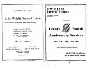 Little Rock Baptist Church: 24th Anniversary Services